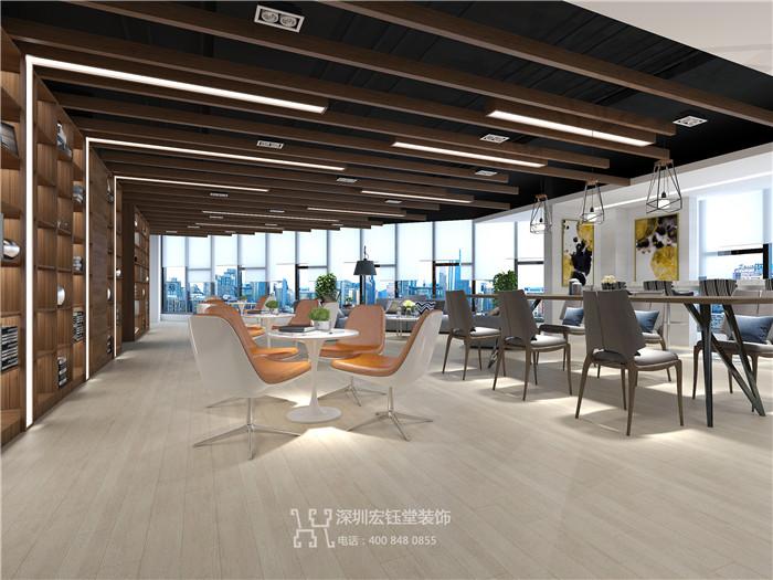 郑州商业地产整层办公设计效果图