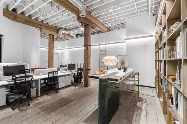时尚设计工作室办公区装修实景图