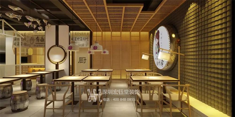 郑州蓉小月酸菜鱼餐厅装修效果图