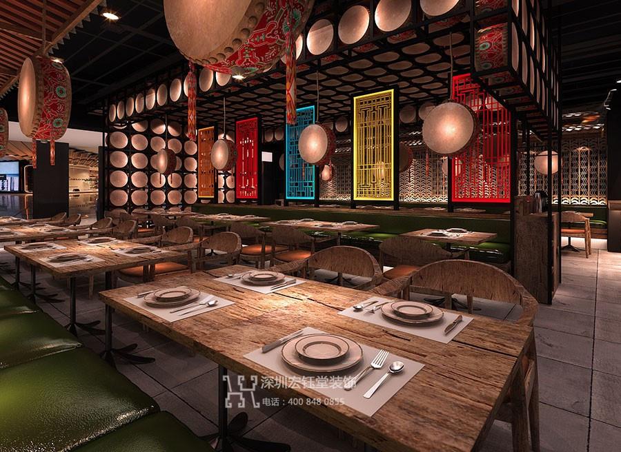 蓉小月老坛酸菜鱼主题餐厅装修效果图