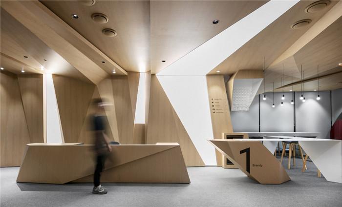 最美科技公司办公室前台设计方案