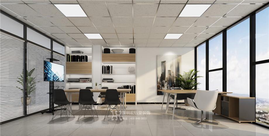 郑州云智科技公司办公室装修郑州云智科技公司经理办公室装修效果图
