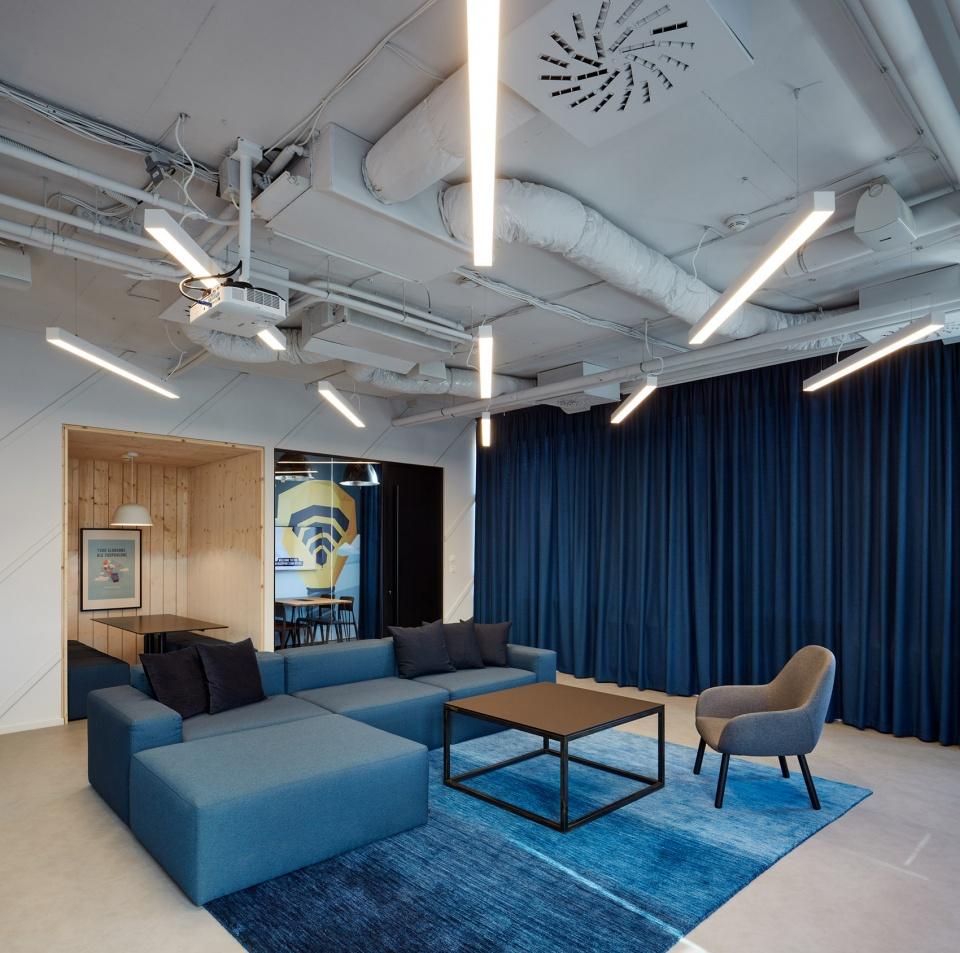 IT公司办公室休闲区装修设计图
