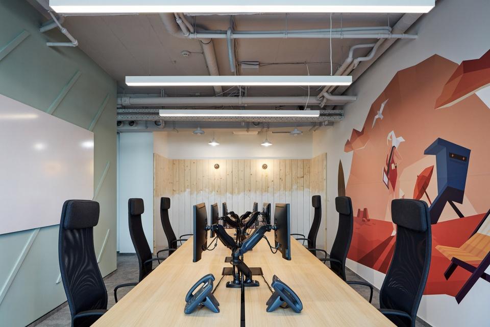 与众不同的国外IT公司开放式办公室装修设计方案