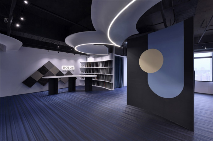 台湾波龙艺术地毯设计公司办公室展厅装修设计图