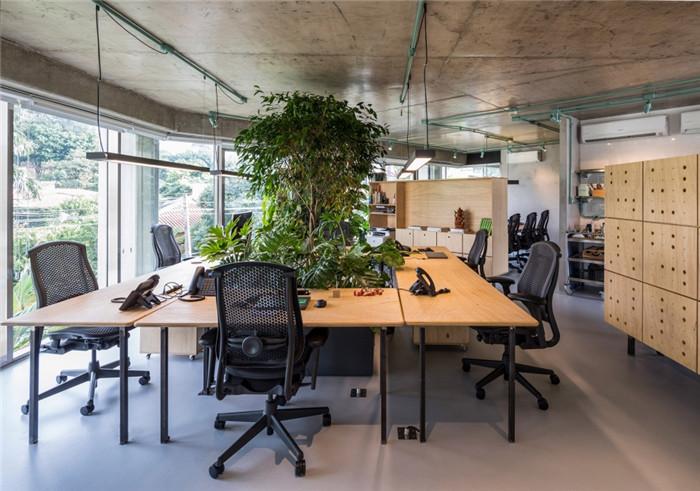 工业风绿色办公室装修设计方案