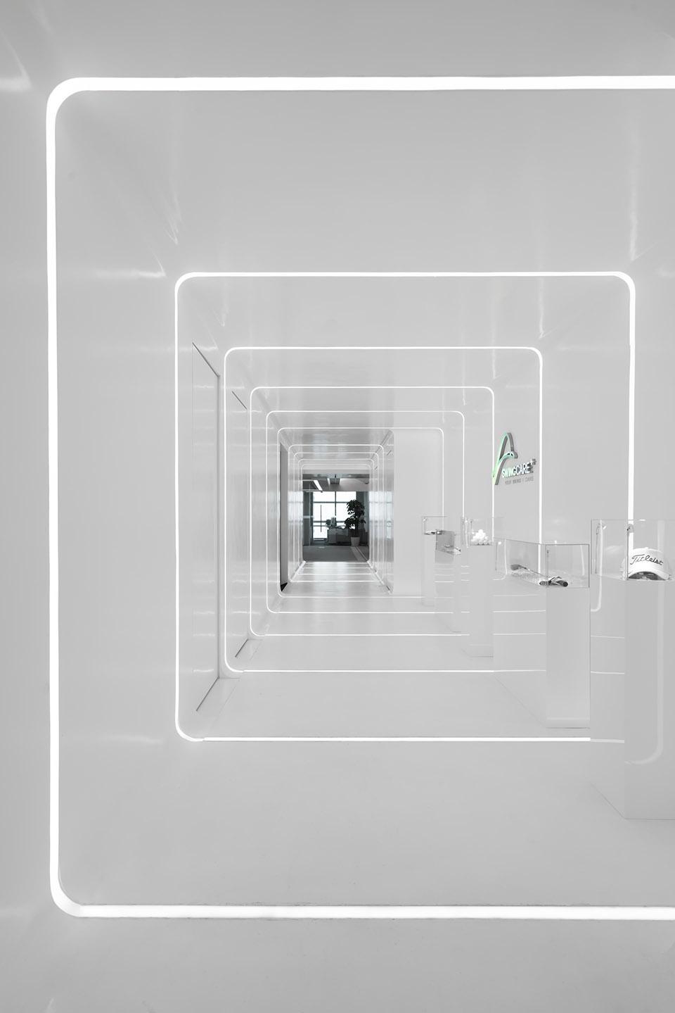 时尚科技感办公室展厅装修设计方案