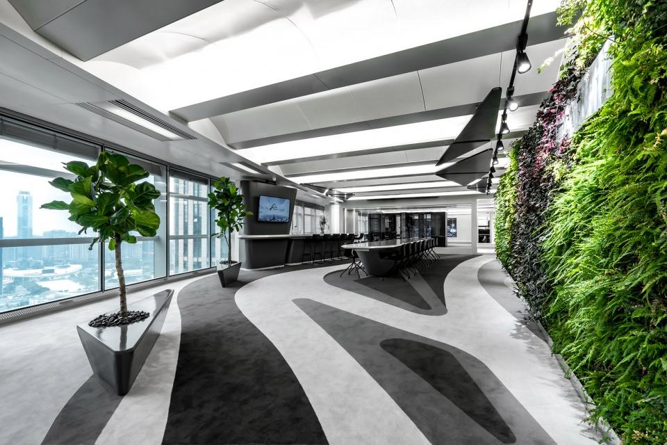 满满科技感的未来时空主题UnitedDATA总部办公室装修设计