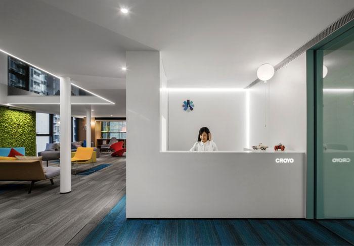 简约时尚的办公室前台装修设计方案
