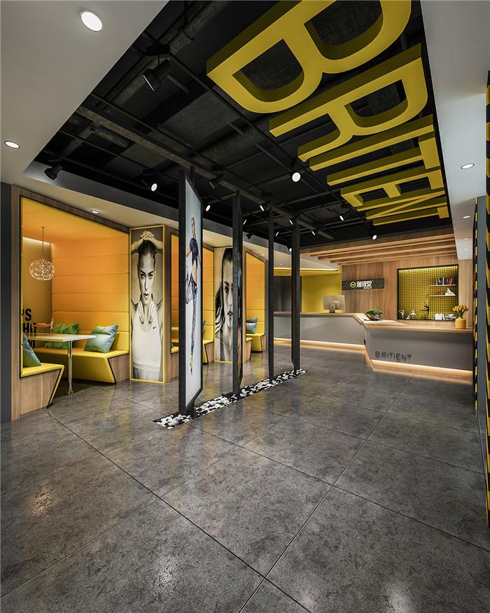时尚炫酷的专业舞蹈培训机构接待大厅装修设计图