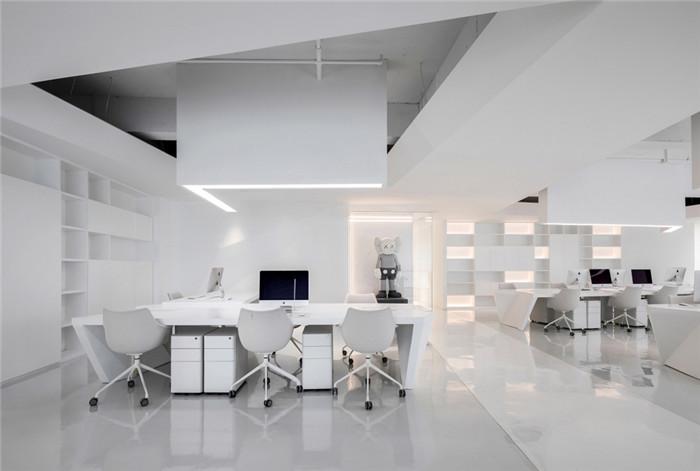服装公司艺术办公室敞开办公区设计方案
