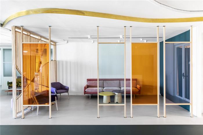高科技公司时尚办公室接待区设计方案