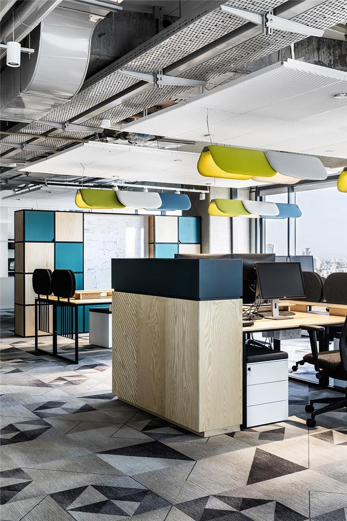 高科技公司时尚开放式办公区设计方案