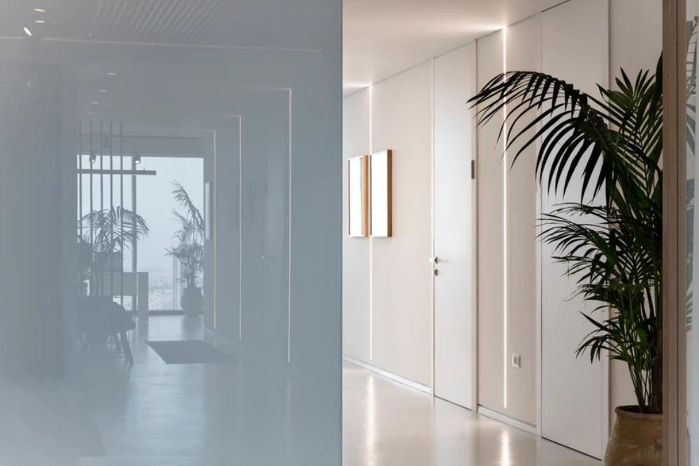 国外律师事务所办公室走廊装修设计方案