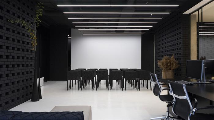 极简风办公室装修设计效果图隧中设计图片